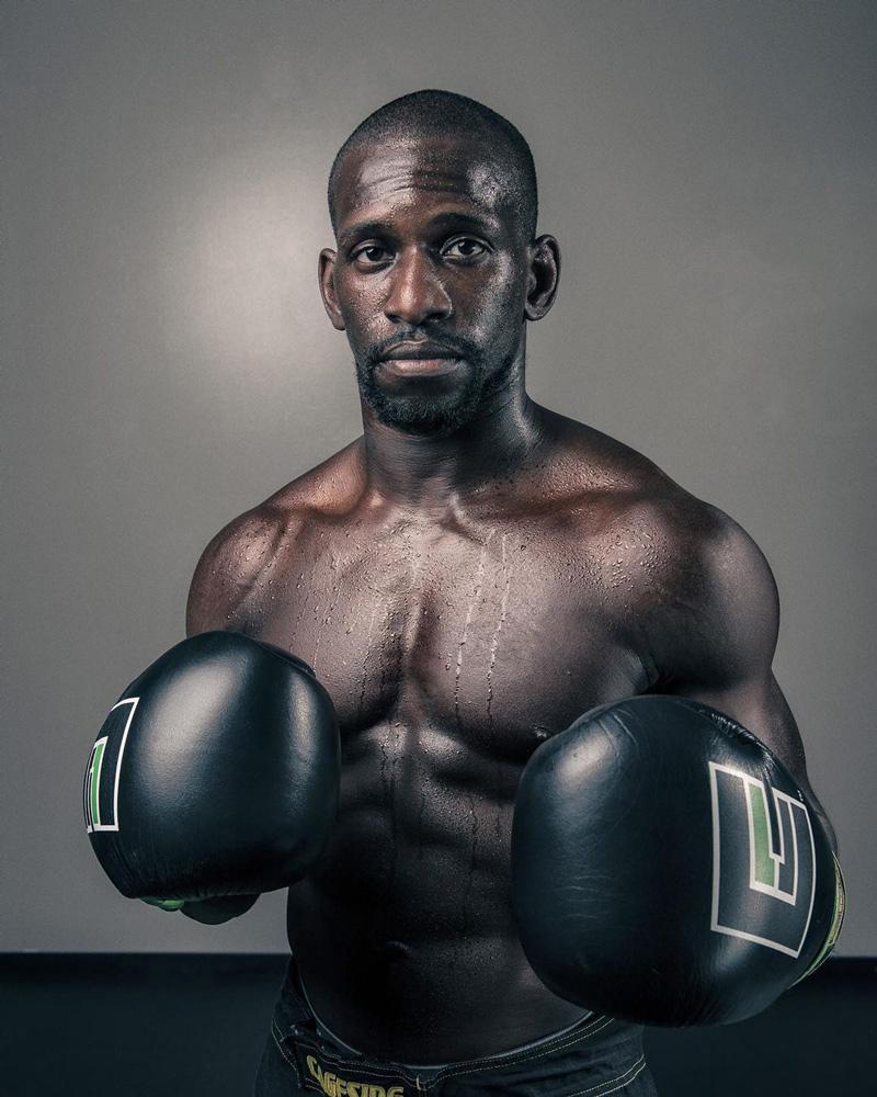 fitness portrait of boxer